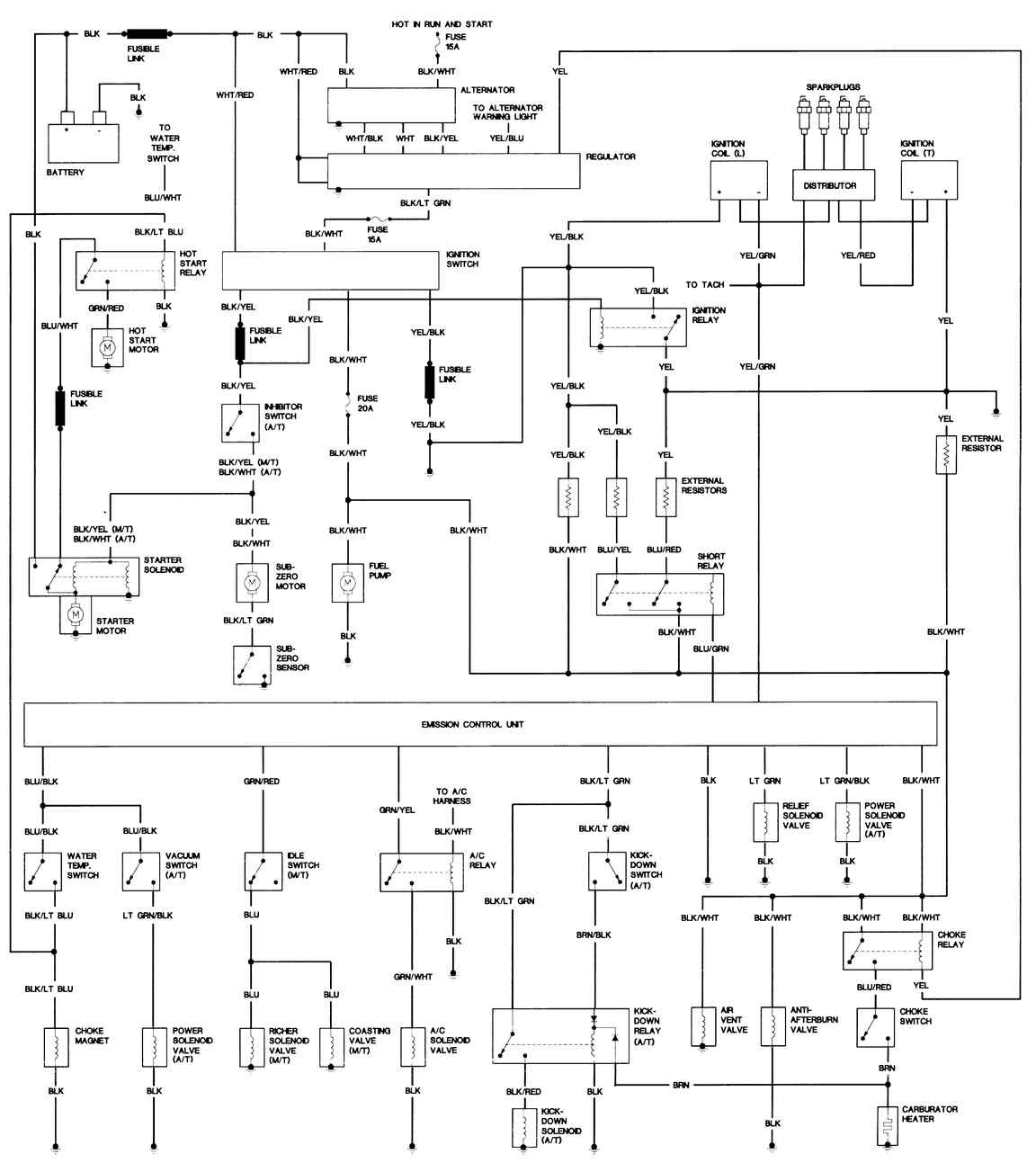 wiring diagrams engine controls 1979 80 rx 7 except california