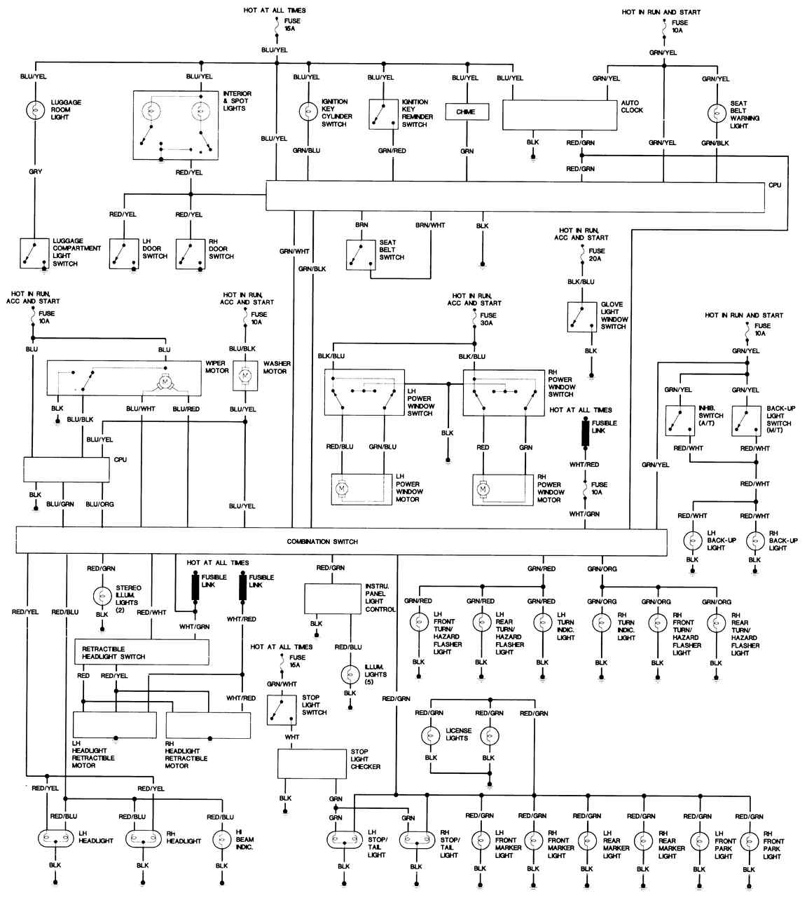 Wiring Diagrams Mazda Rx 7 Schematic Body 1981 83