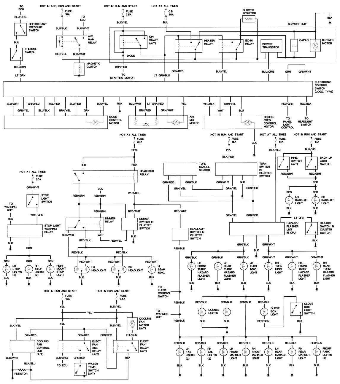 WIRING DIAGRAMS - 1993 mazda rx7 wiring diagram